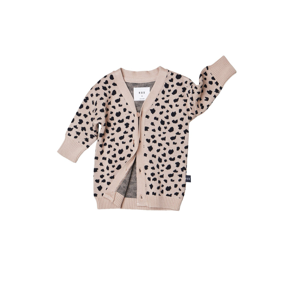 Huxbaby | Animal Knit Cardi - Camel