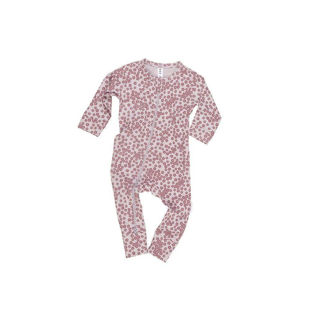 Huxbaby | Floral Zip Romper - Lilac - LAST TWO