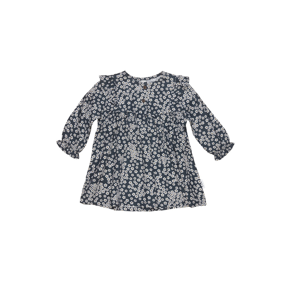 Huxbaby | Floral Frill Dress - Ink - LAST TWO