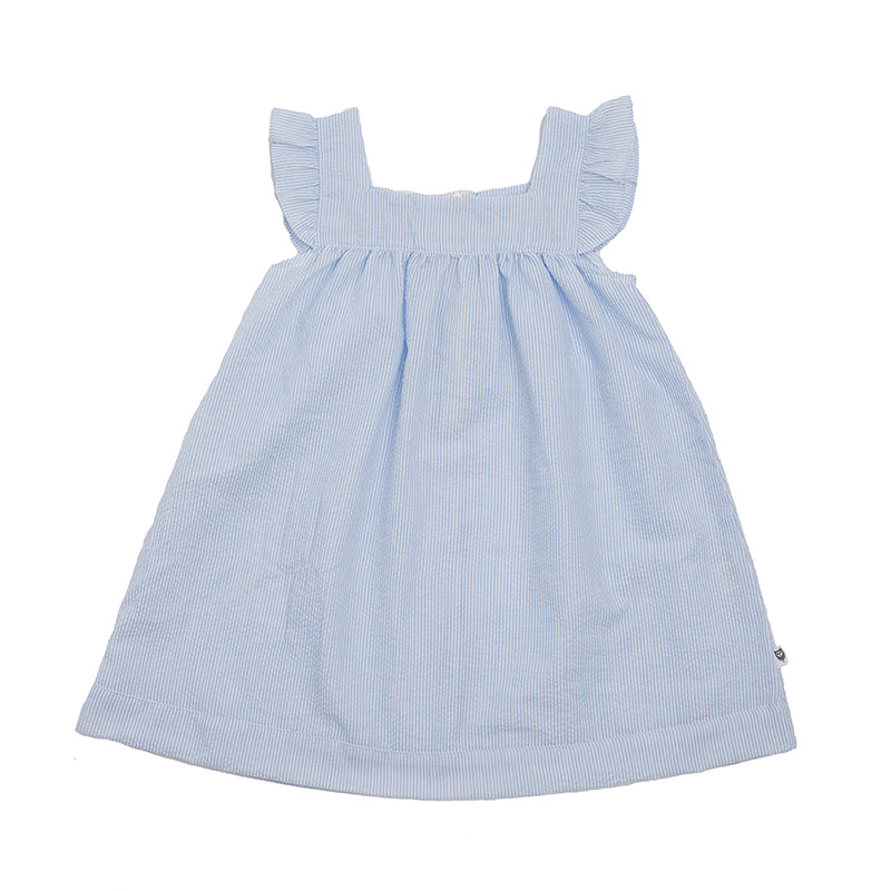Hootkid | The Original Stripe Dress - Ice Blue Seersucker