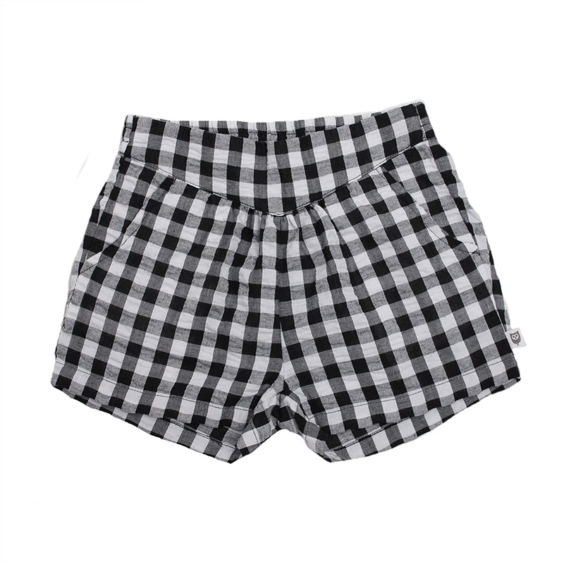 Hootkid | Angelique Short - Black Check Gingham