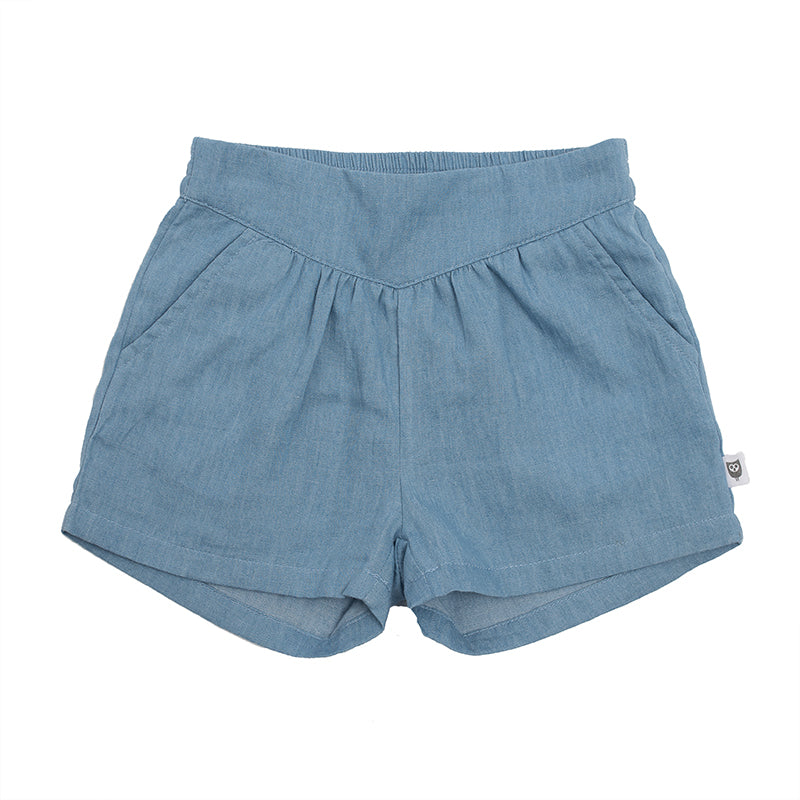 Hootkid | Angelique Short - Chambray - LAST ONE