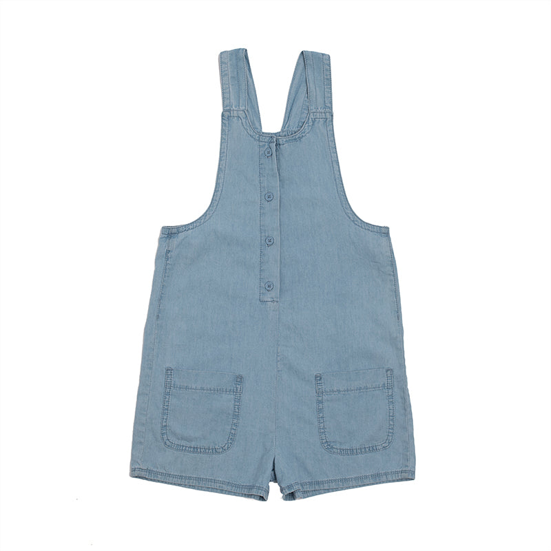 Hootkid | Retro Playsuit - Chambray