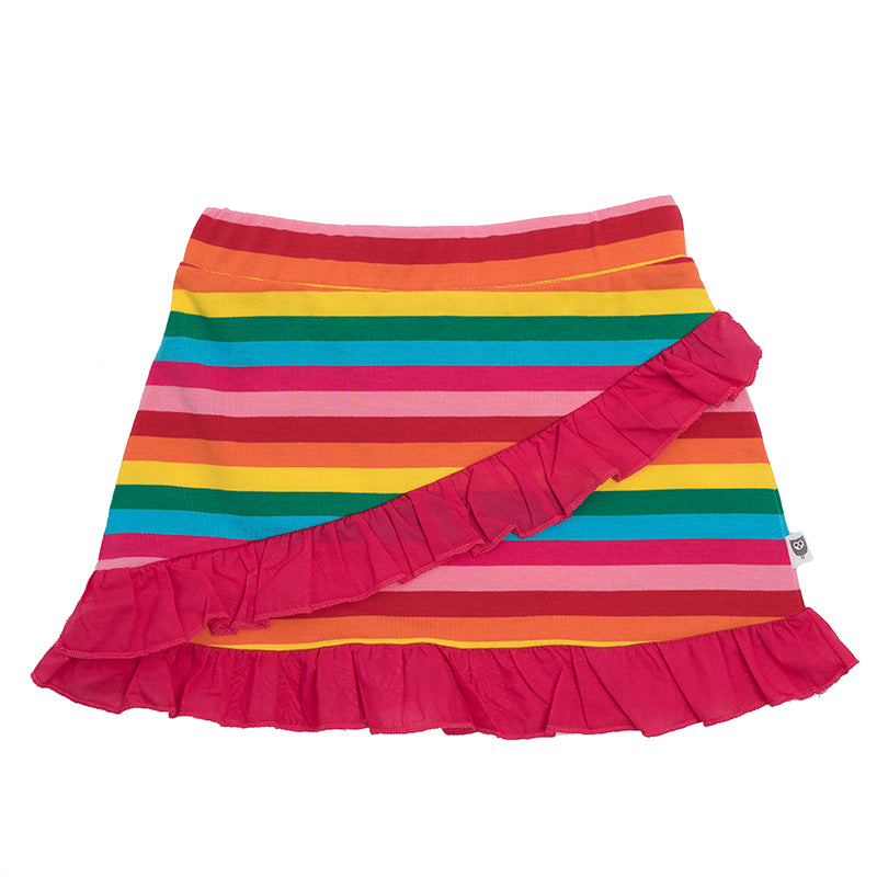 Hootkid | Rainbow Frill Skirt - Candy Stripe