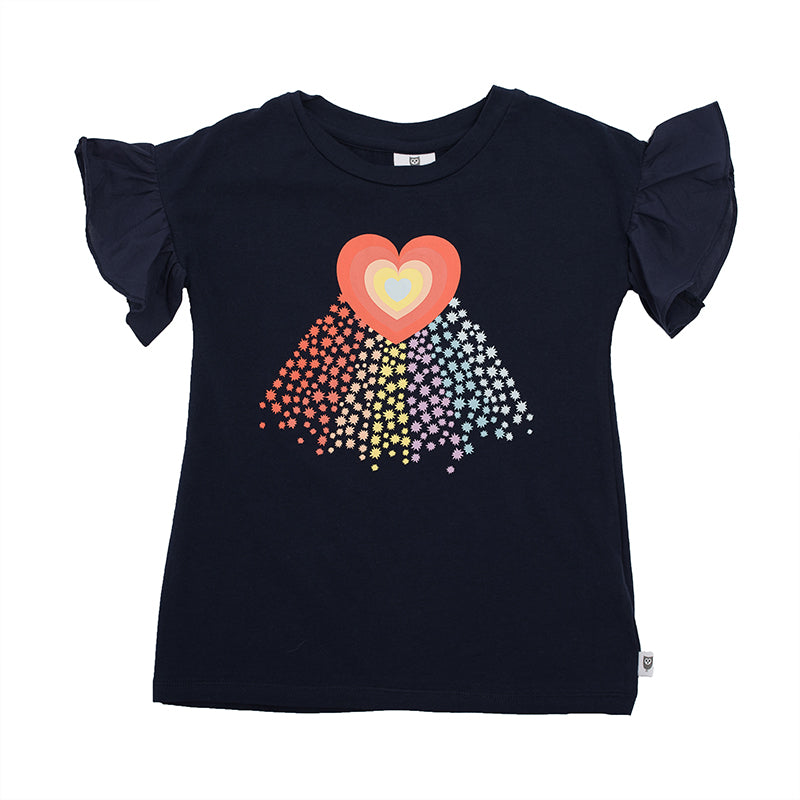 Hootkid | Rainbow Galaxy Tee - Navy