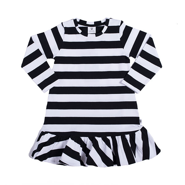 Hootkid | Flippy Flip Dress - Black/White Stripe - LAST TWO