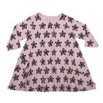 Hootkid | Stars and Smiles Swing Dress - Ballet Pink/Black