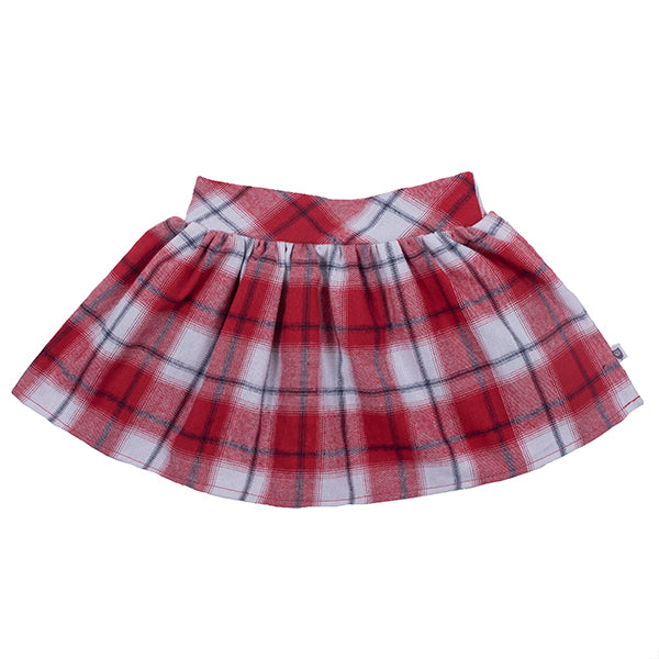 Hootkid | Skater Girl Skirt - Red Check