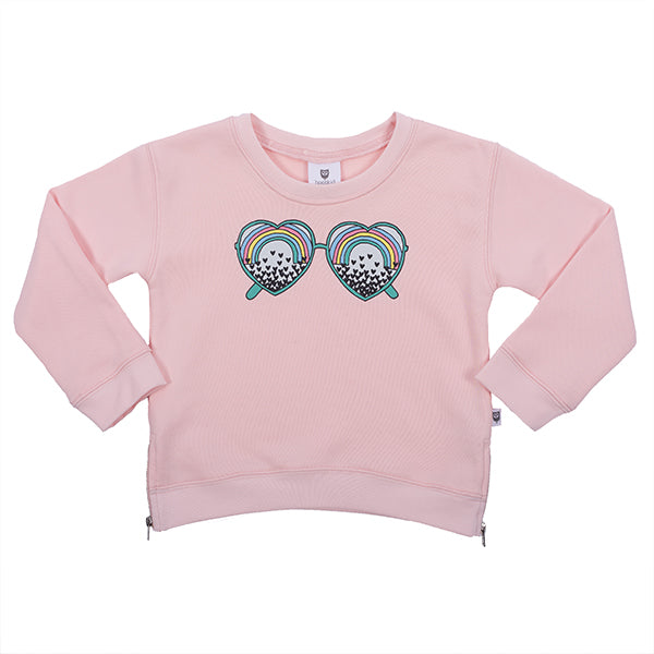 Hootkid | See the Love Sweater - Ballet Pink