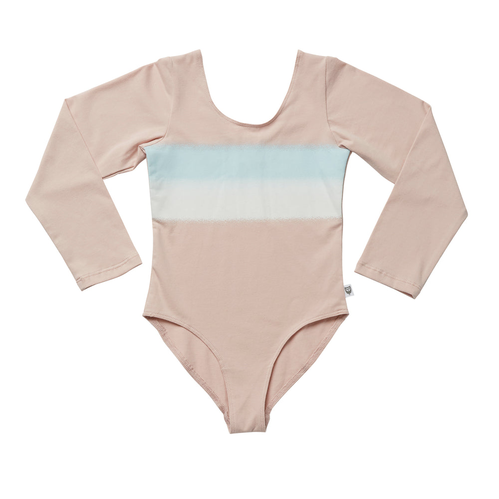 Hootkid | Spray Stripe Leotard - Ballet Pink