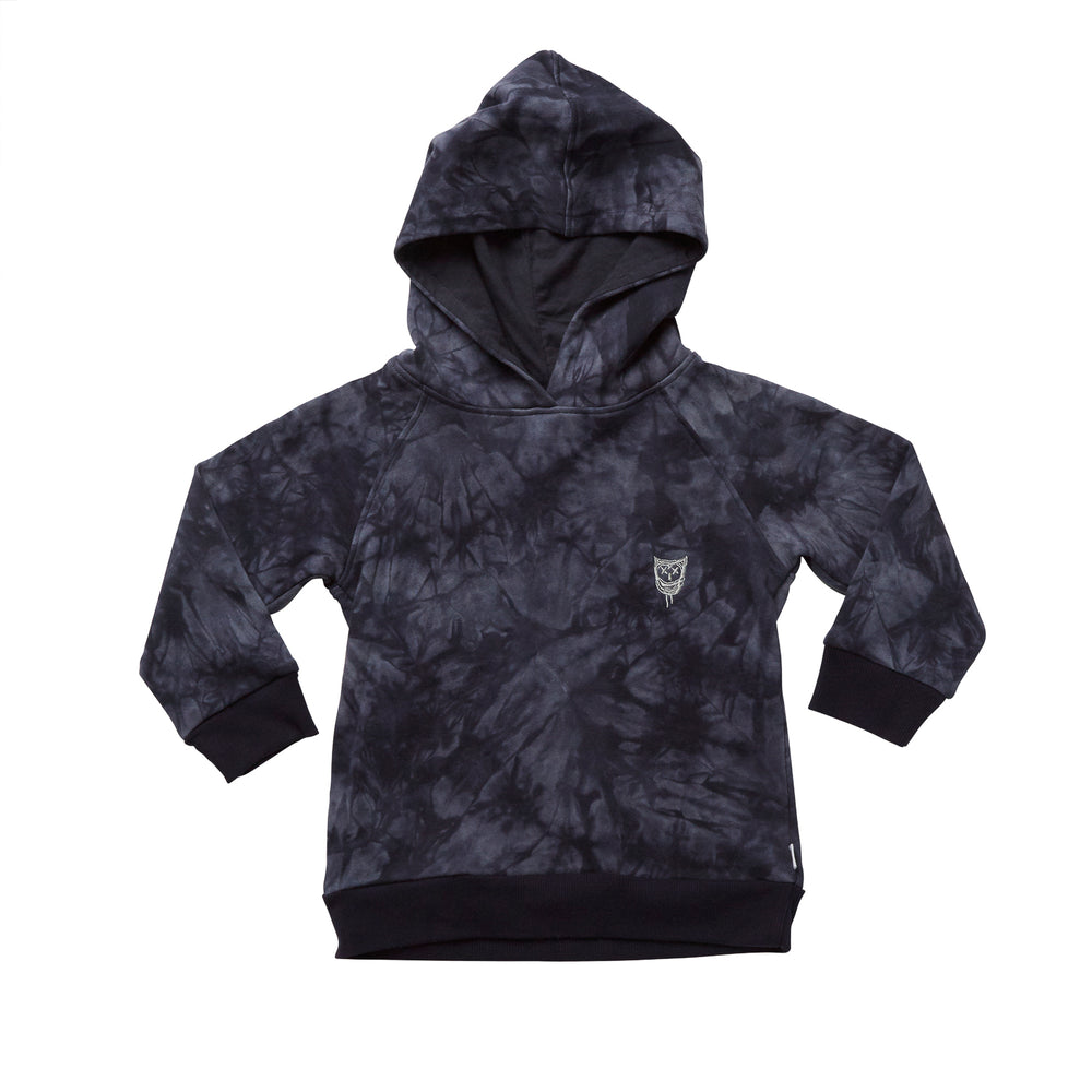 Hootkid | Hooded Crew - Navy Acid Wash