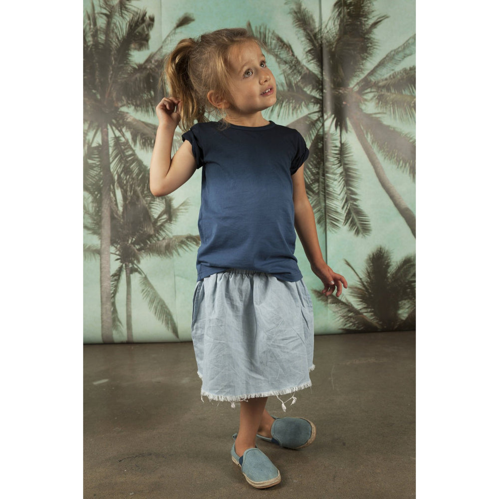 He and Her The Label | Chambray Skirt - Size 6Y LAST ONE