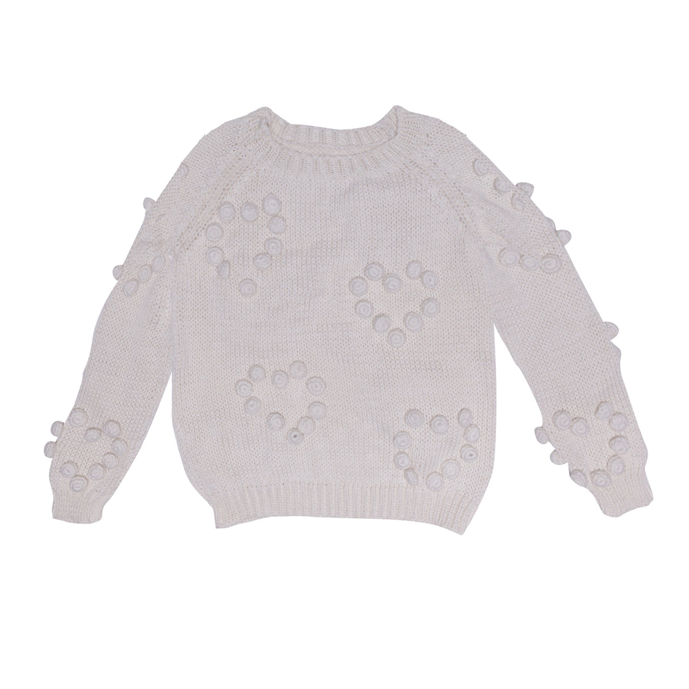Alex & Ant | Heart Pom Pom Jumper - Natural