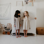 Alex & Ant | Anya Embroidery Dress - Hemp Stripe Natural - LAST TWO