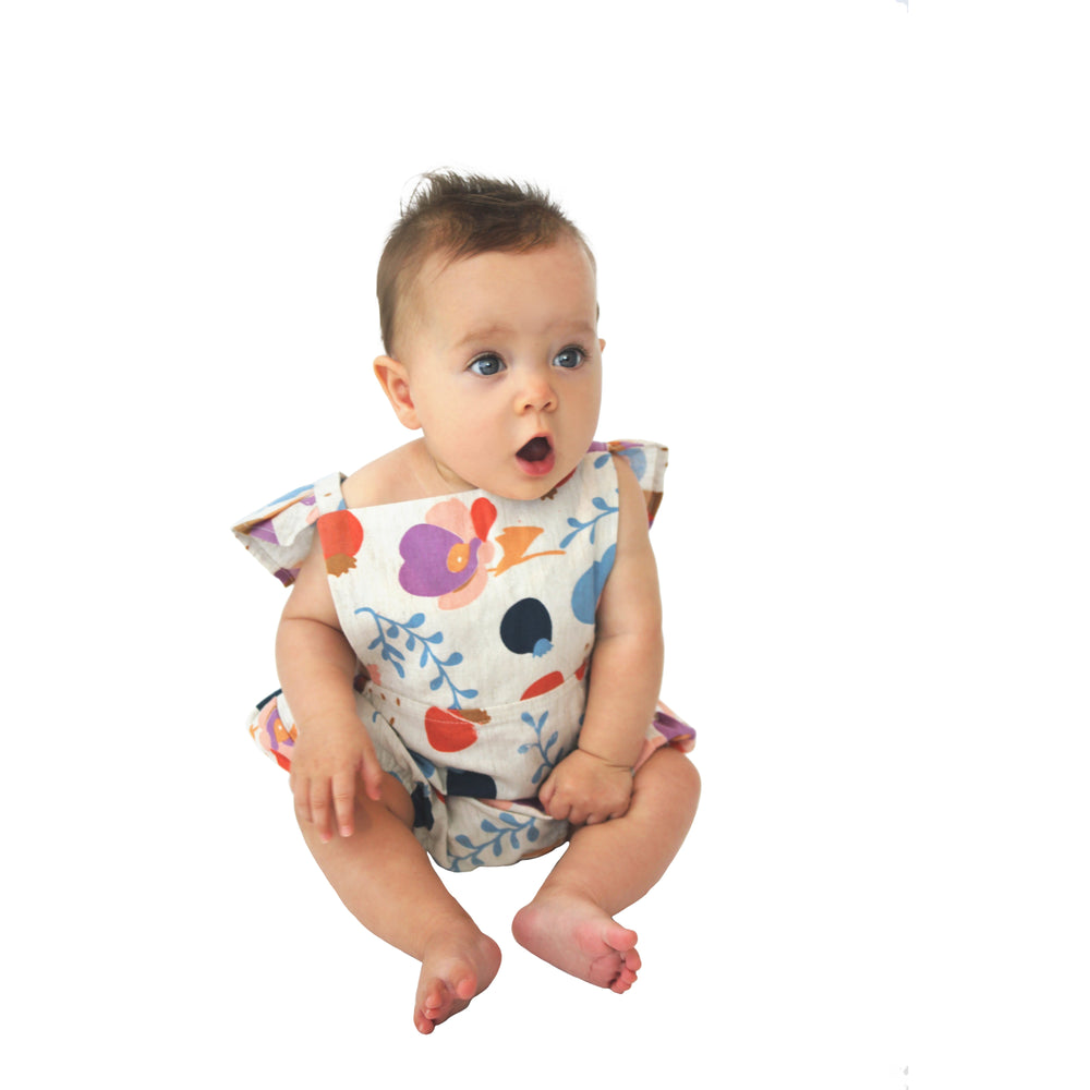 ALEX & ANT | Mima Playsuit - Natural Floral - Size 0-3m LAST ONE