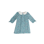 Love Henry | Pintuck Dress - Blue Floral