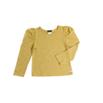 Love Henry | Puff Sleeve Knit Top - Mustard