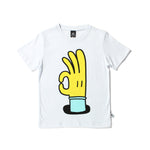Littlehorn | All OK Tee - White - Size 6 LAST ONE
