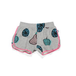Littlehorn | Fruits Shorts - Grey Marle - Size 1 LAST ONE