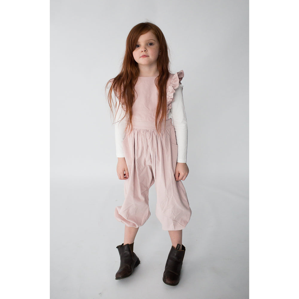 Alex & Ant | Lola Frill Jumpsuit - Pink Cord - LAST ONE