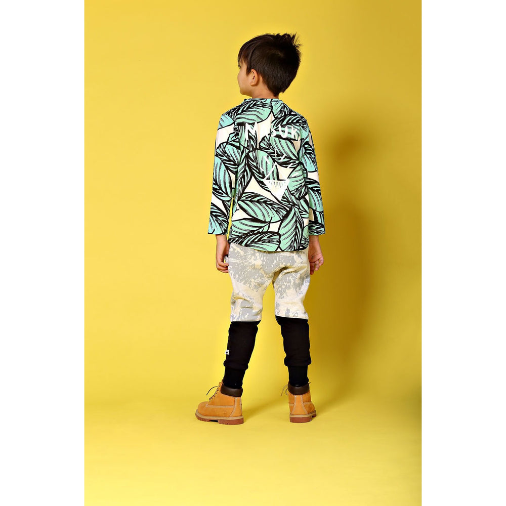 Milk & Masuki | Long Sleeve Tee - Jungle Fern Meterage - Size 7 LAST ONE