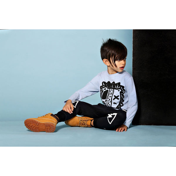 Milk & Masuki | Boys Long Sleeve Tee - Lion - Blue