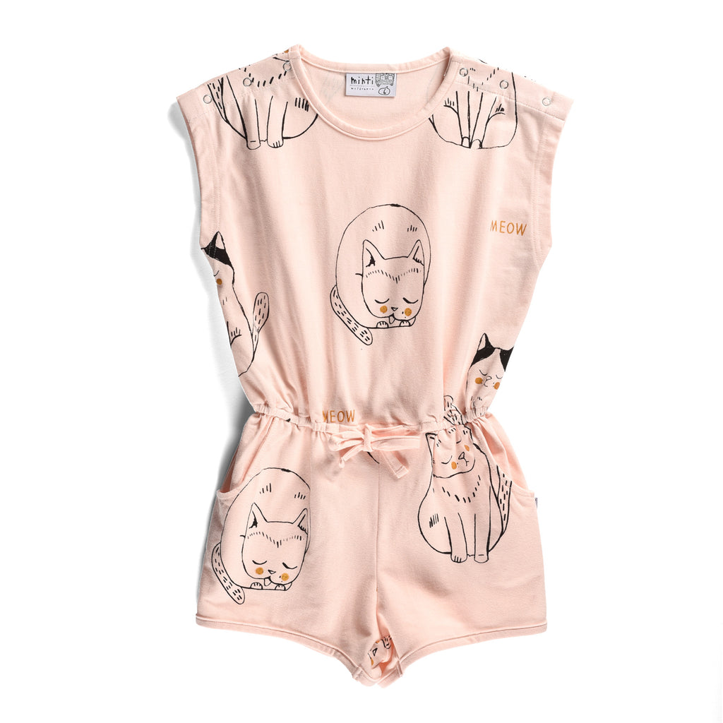 Minti | I Heart Cats Playsuit