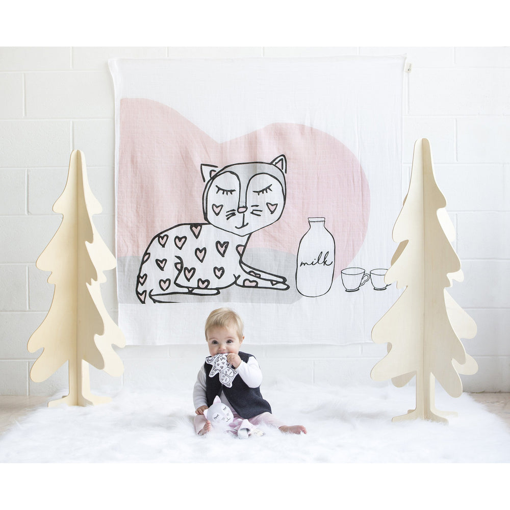 KIPPINS | KITTY KIPPINTALE™ MUSLIN WRAP & SNOOZE BLANKET - LAST TWO