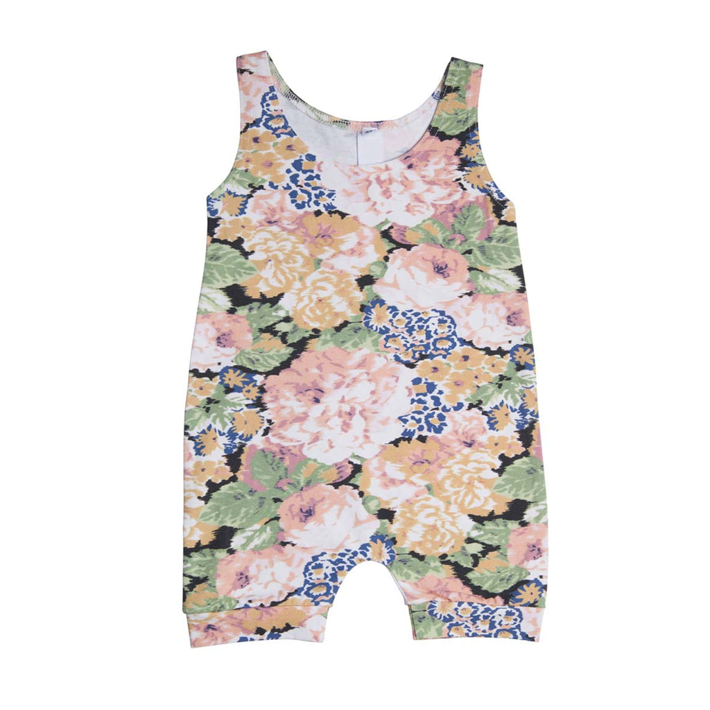 He and Her The Label | Peony Bloom Muscle Romper - LAST ONE