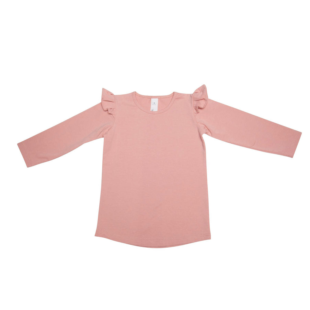 He and Her The Label | Peony Frill Sleeve Tee - LAST ONE