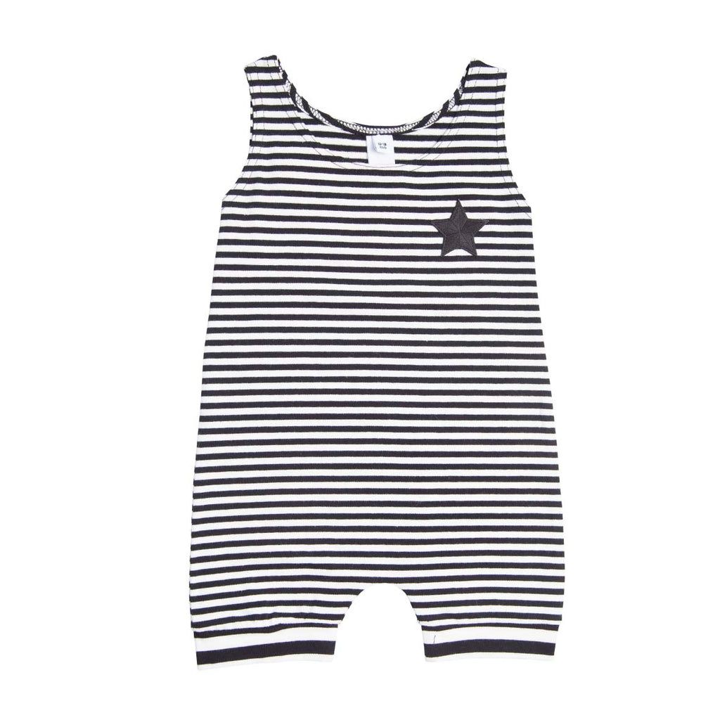 He and Her The Label | Pirate Stripe Muscle Romper - Size 0-3m LAST ONE