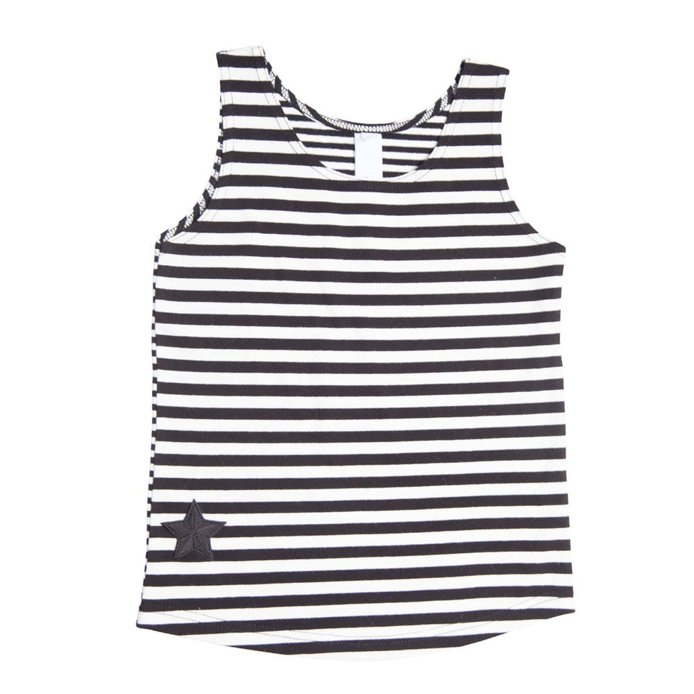 He and Her The Label | Pirate Stripe Muscle Tank