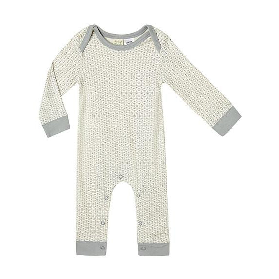 Sapling Child Organic | Dove Grey Romper - Size 6-12m LAST ONE
