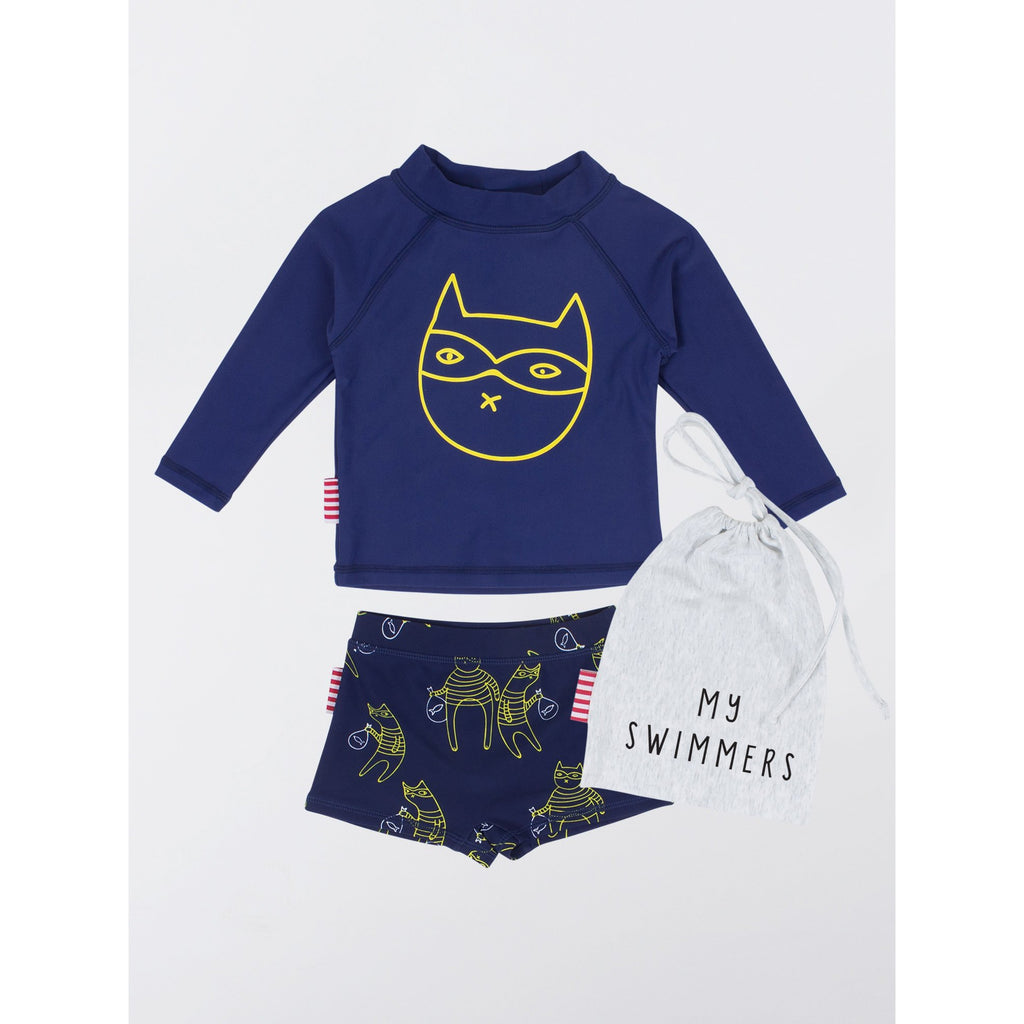 SOOKIbaby | Cat Bandit Two Piece Rashie Set - Size 0 LAST ONE