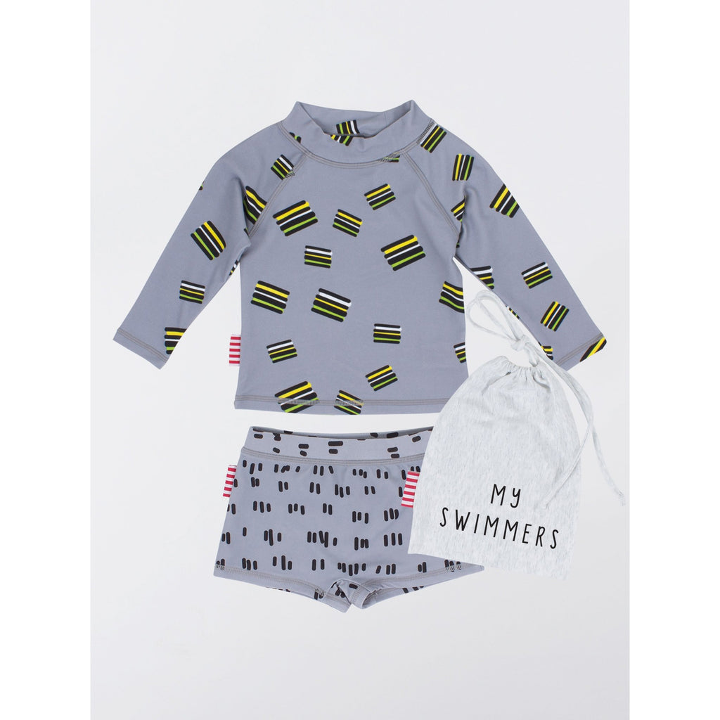 SOOKIbaby | Liquorice Two Piece Rashie Set - LAST TWO