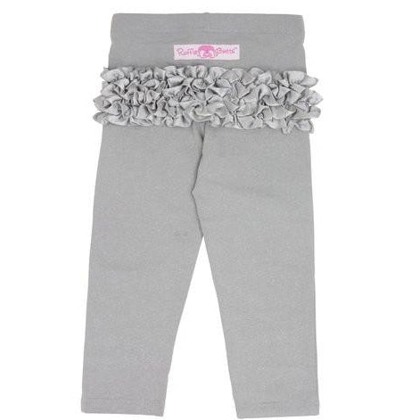 RuffleButts Grey Sparkle Stretch Pants