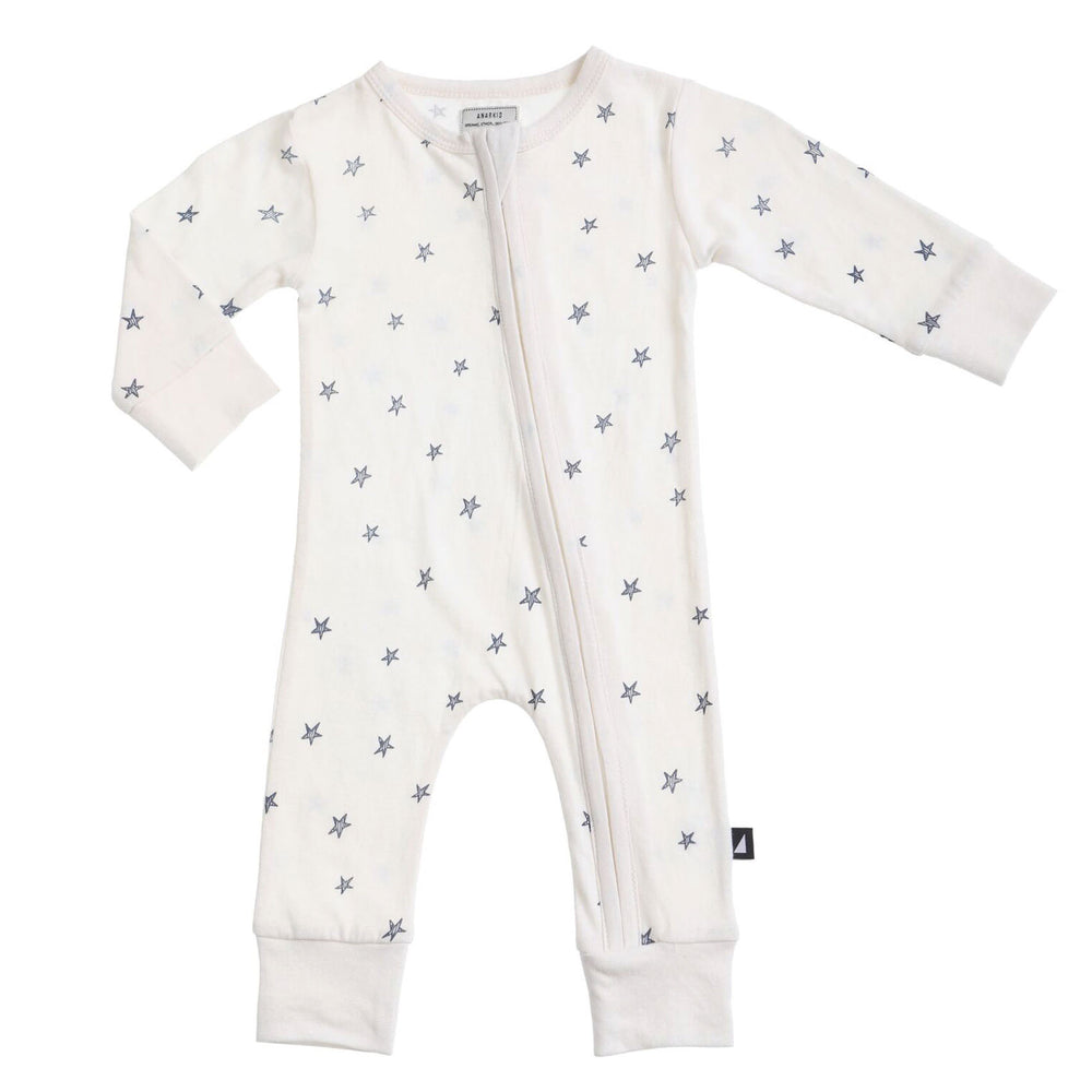 Anarkid | Starry Night Zip Romper  - Lily White - LAST TWO