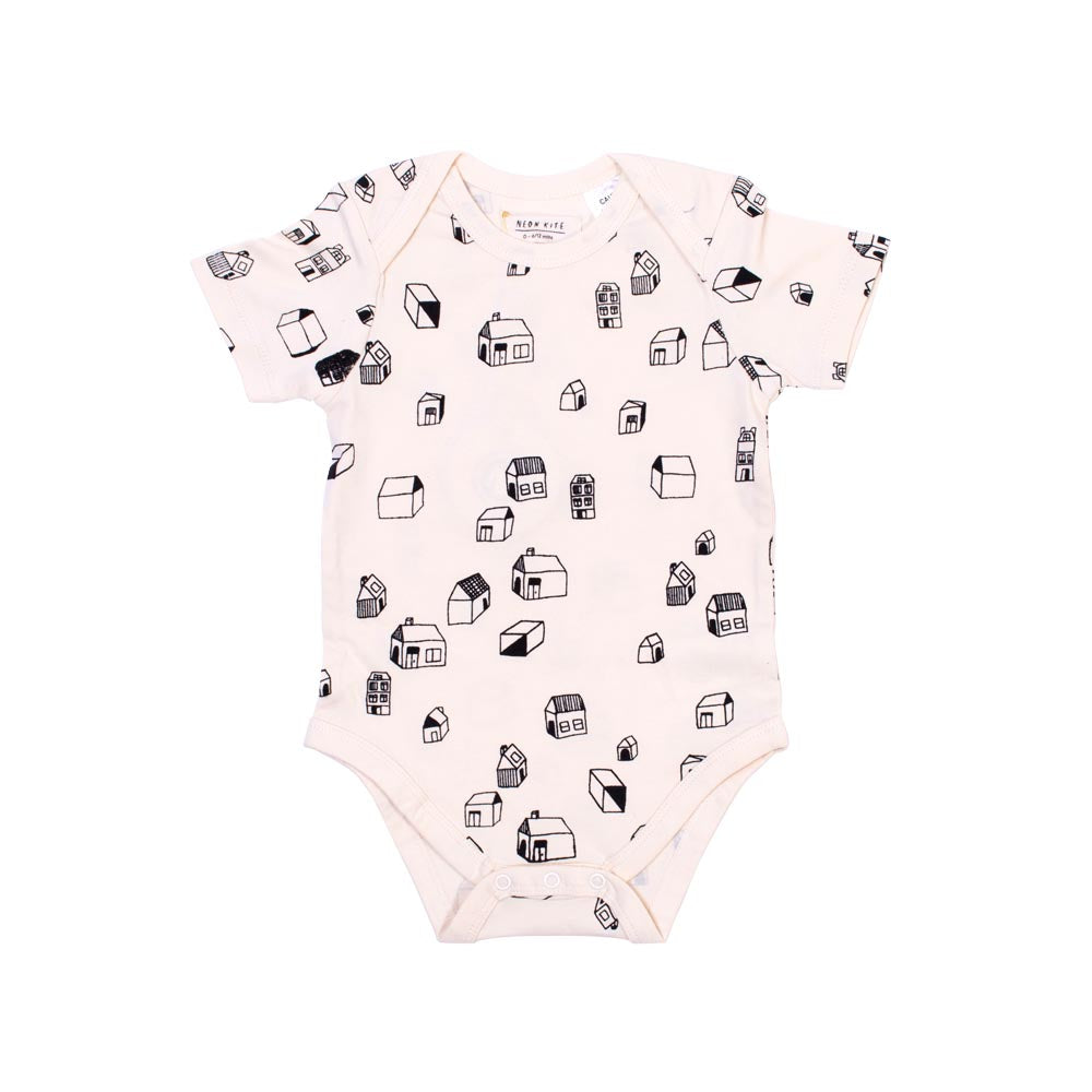 Neon Kite | Short Sleeve Bodysuit - Village - Size 00 LAST ONE