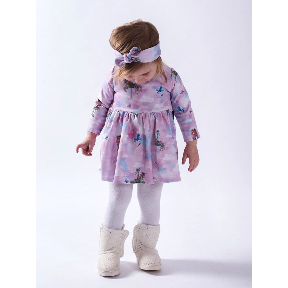 Aster & Oak | Unicorn & Fairy LS Flare Dress - Size 0 LAST ONE