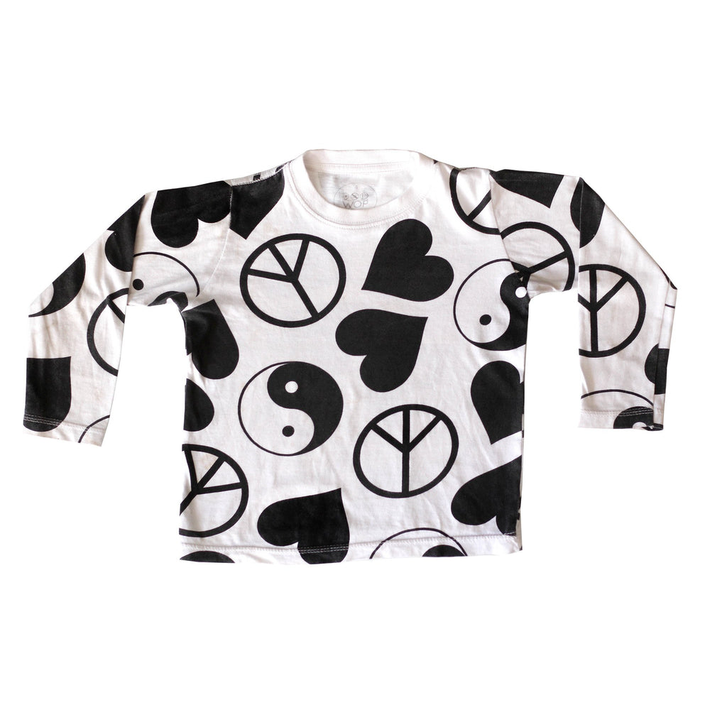 Doo Wop Kids | World Peace Long Sleeve Tee - Size 8 LAST ONE