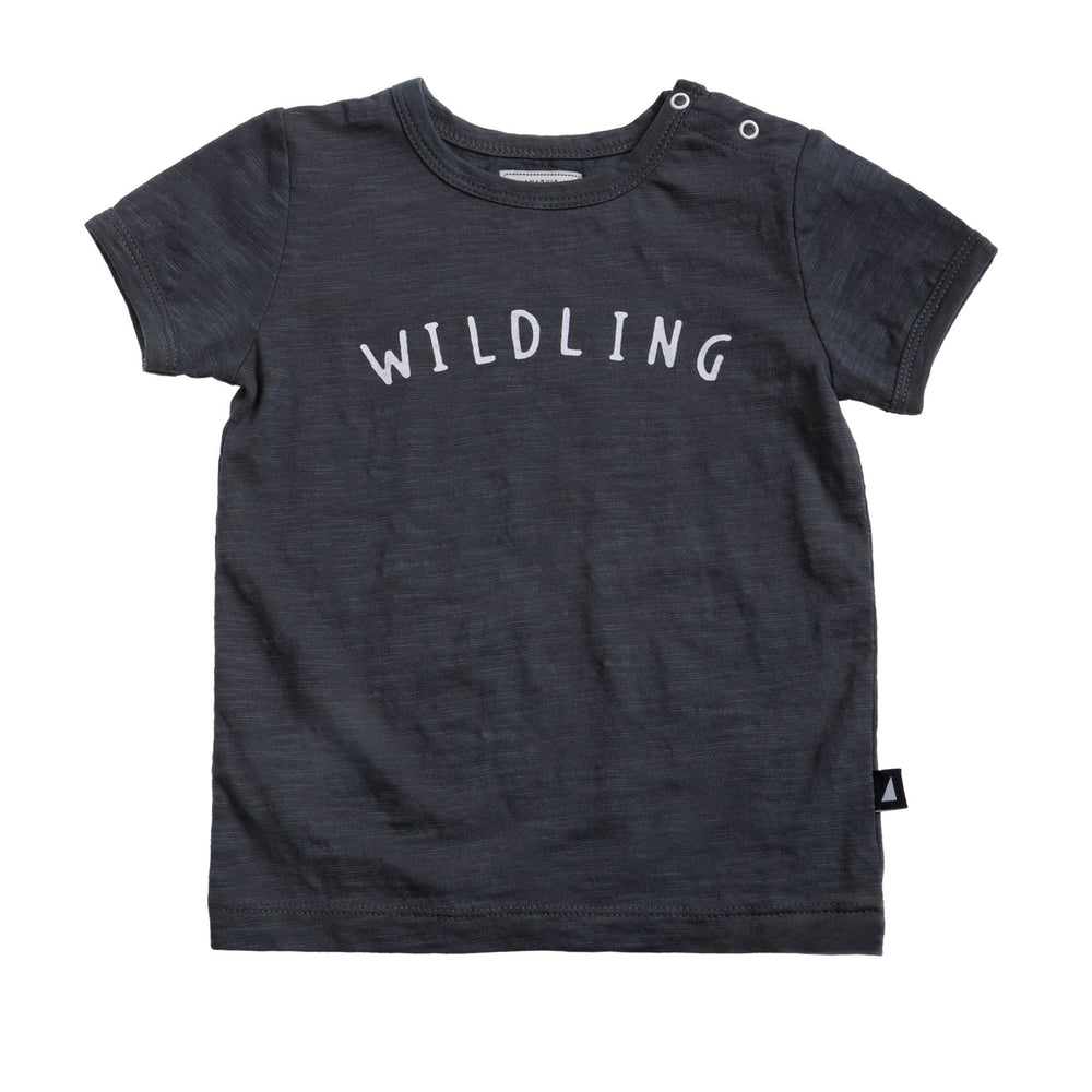 Anarkid | Wildling Short Sleeve Tee - Charcoal - Size 0 LAST ONE