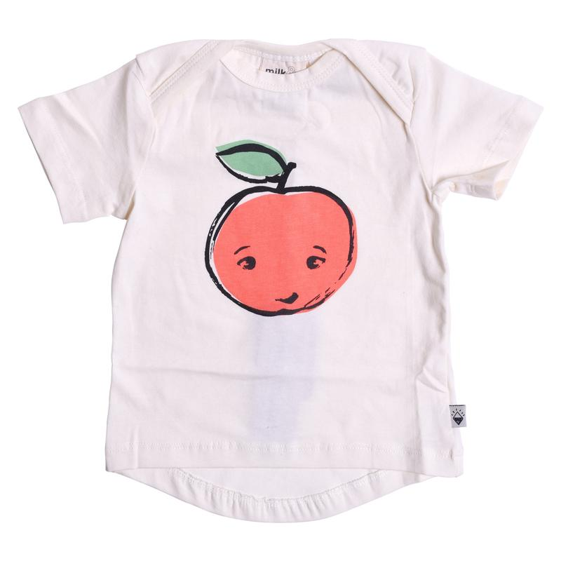 Milk & Masuki | Short Sleeve Tee - Apple Placement - LAST TWO