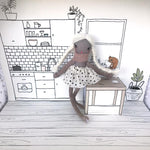 These Little Treasures | Pop-Up Doll House - A Day At Home - Blush