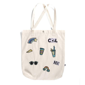 Minti | Embroidered Patch Tote