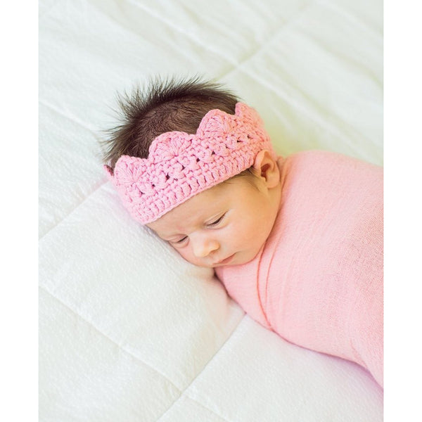RuffleButts Cathryn Crown Headband - Size 6-12m LAST ONE
