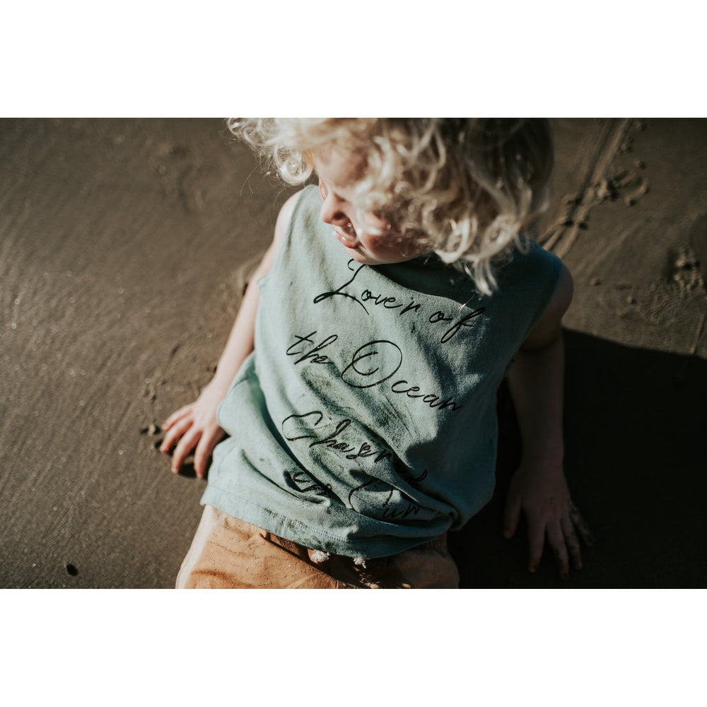 Tully and the Chief | Huey Muscle Tee - Stonewashed Green