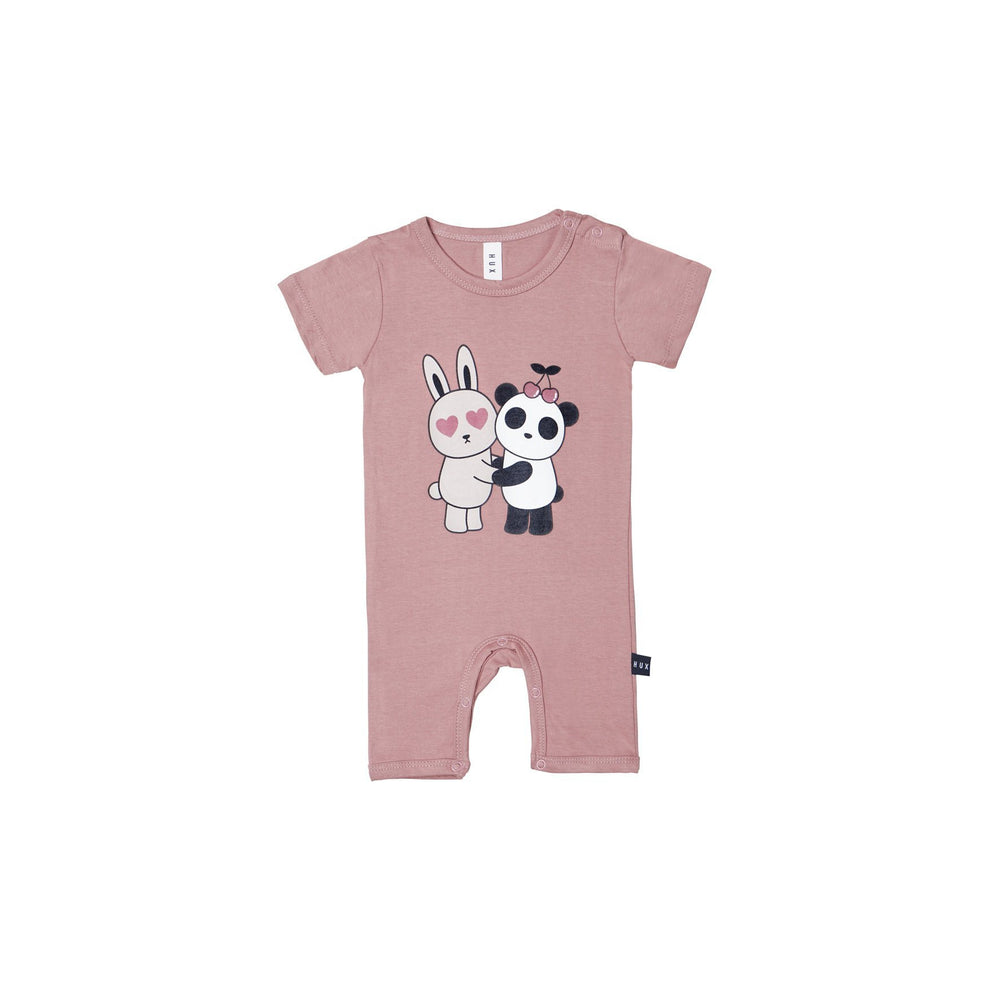 Huxbaby | Hugs Short Romper - Berry