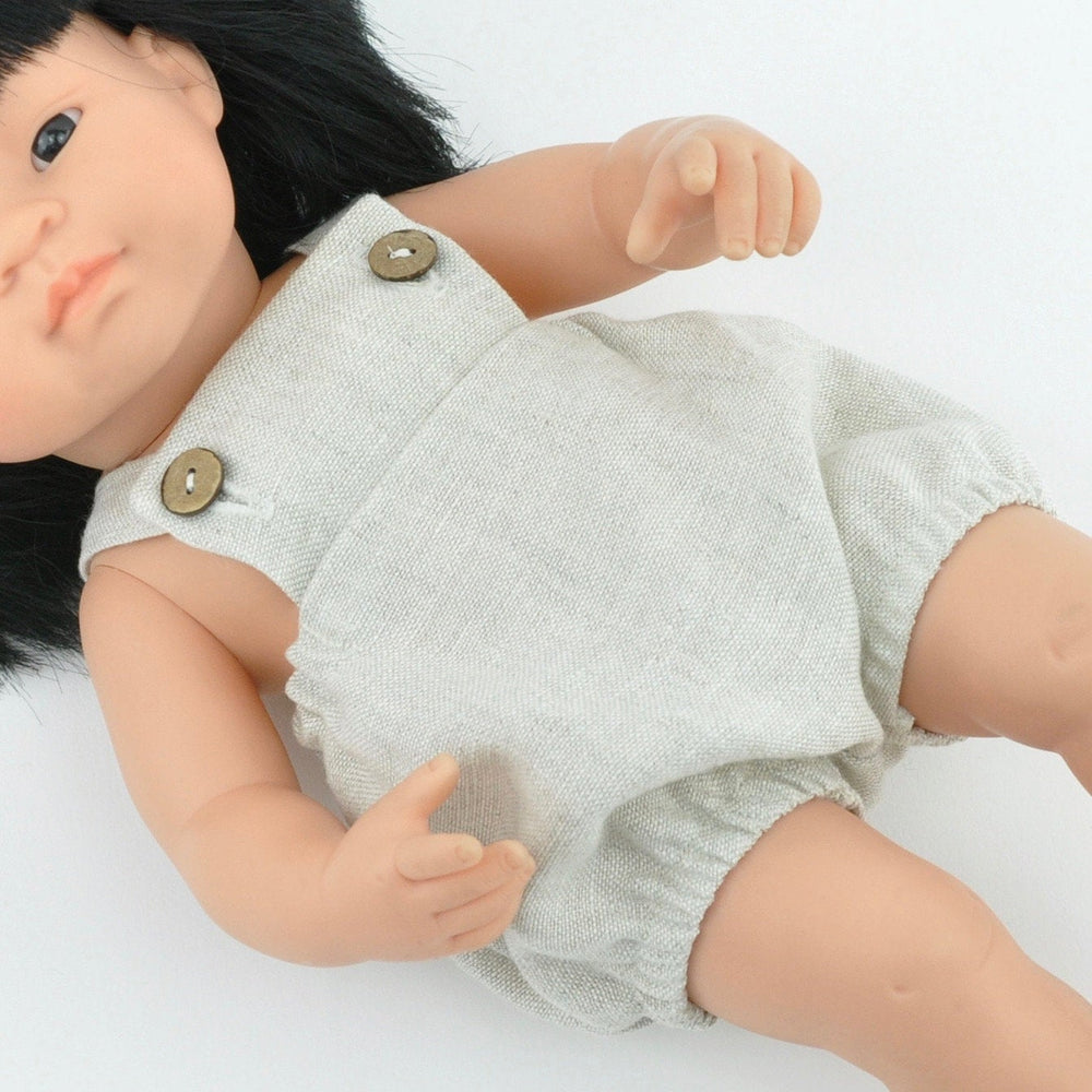 Przytullale | Linen Overall - fits 38cm doll