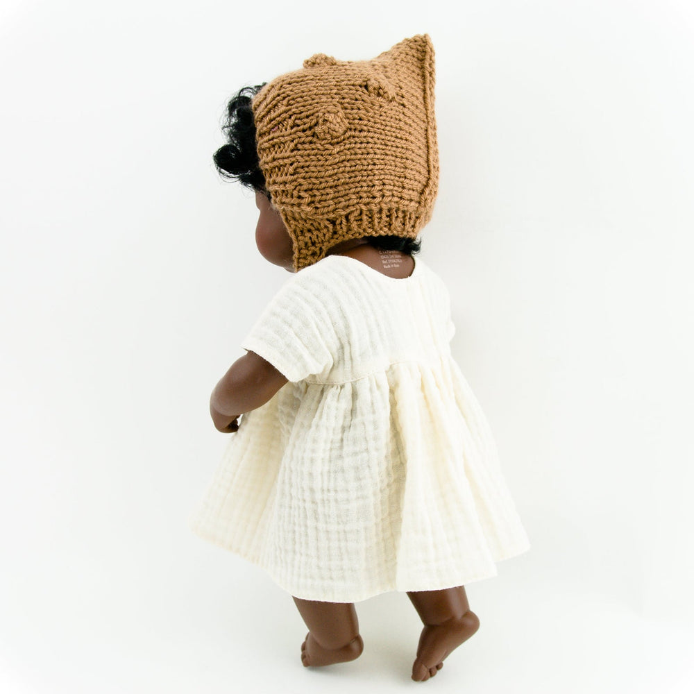 Przytullale | Vanilla Muslin Dress - fits 38cm doll