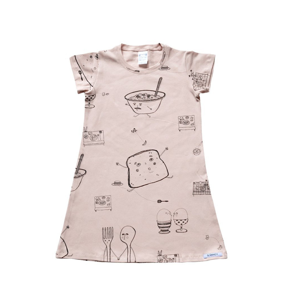G.Nancy | Rose Breakfast Short Sleeve Nightie
